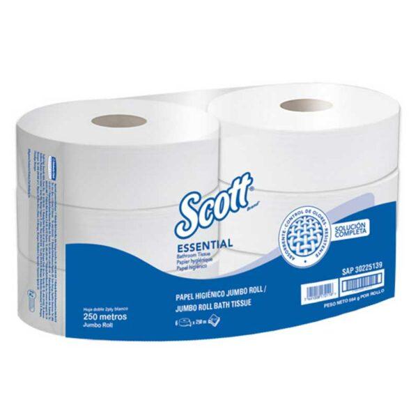 Papel Higiénico Scott Essential Jumbo Roll Smell Clean 820' (6 uds)