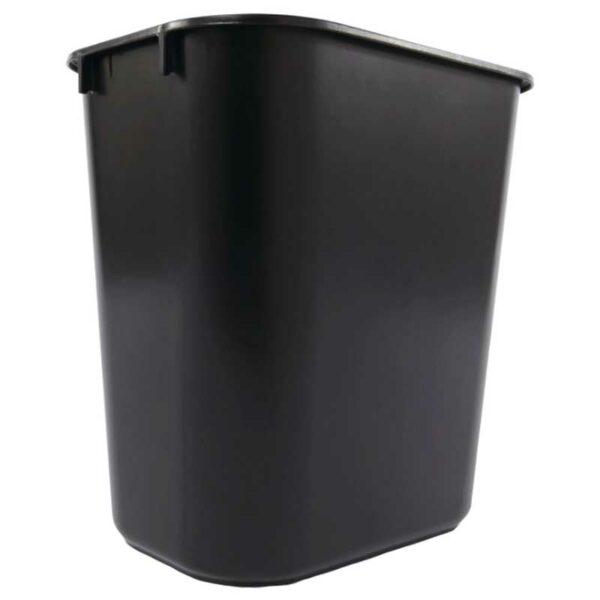 Papelera de Plástico Rubberm Negro