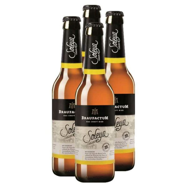 Cerveza Braufactum Soleya Saison, 11.2 oz