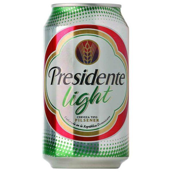 Cerveza Presidente Light Lata, 12 oz (6 pack)