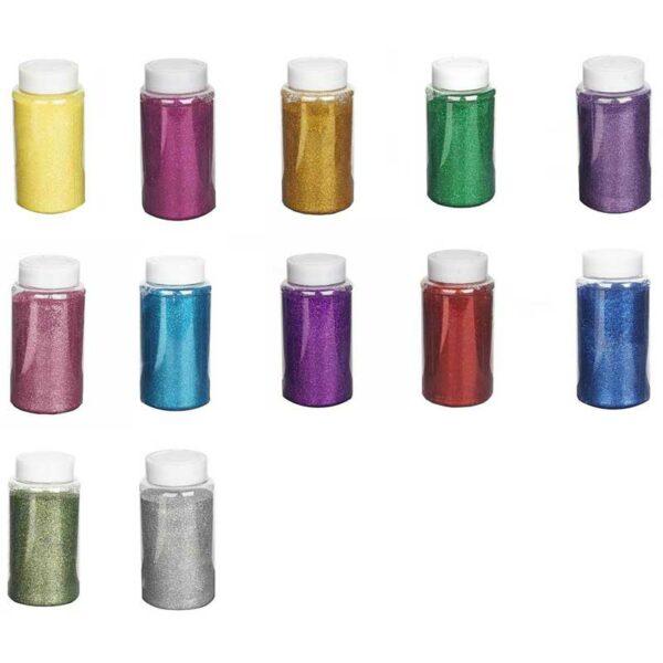 Escarchas Ultra Finas Colores Surtidos (12 uds)