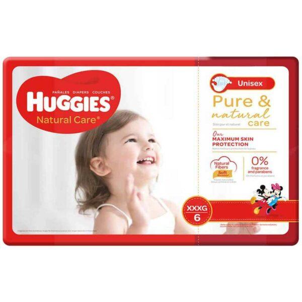 Pañales Huggies Natural Care No.6 XXXG (44 uds)