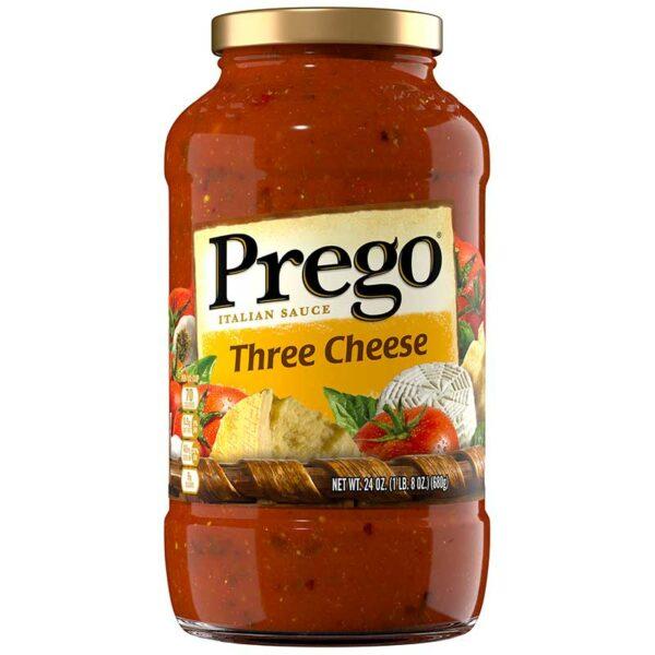 Salsa Italiana Prego Tres Quesos, 24 oz