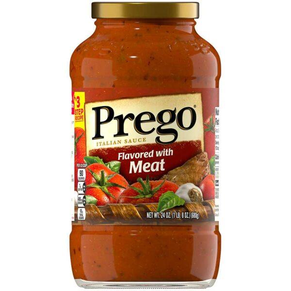 Salsa Italiana Prego con Sabor a Carne, 24 oz