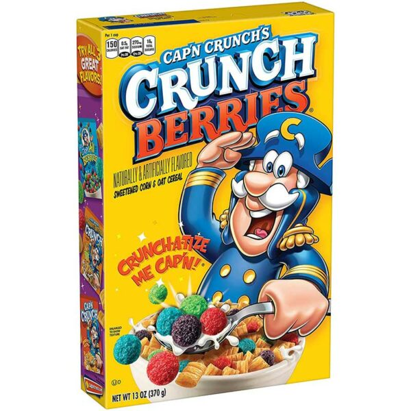 Cereal Cap'n Crunch's Bayas Crujientes, 370 g
