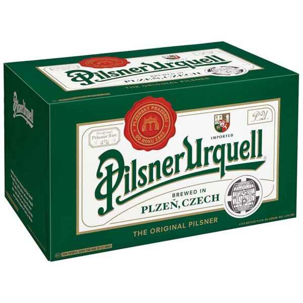 Cerveza Pilsner Urquell, 11.2 oz Caja
