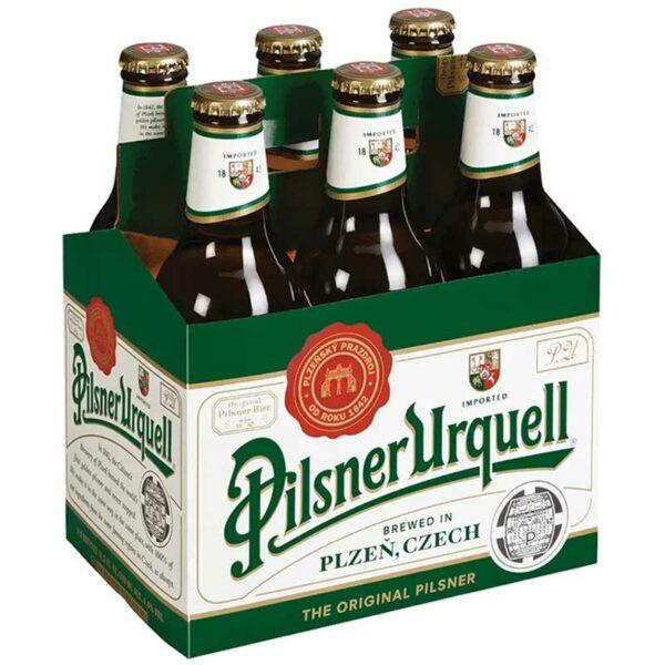Cerveza Pilsner Urquell, 11.2 oz (6 pack)