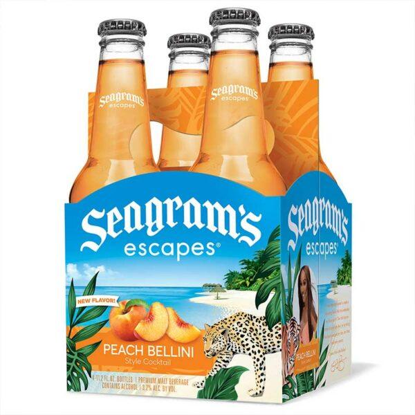 Cóctel Seagram's Escapes Peach Bellini, 11.2 oz