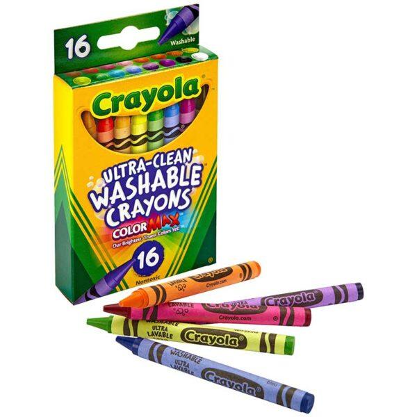Crayones de Colores Crayola Lavable Regular (16 uds)