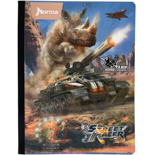 Cuaderno Cosido Norma Rayado Rhino Tank (100 Hojas)