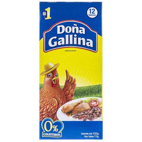 Caldo de Gallina Doña Gallina, 12 Tabletas