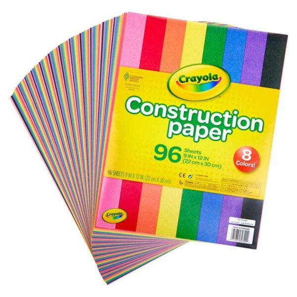 """Paper de Construcción Crayola 9"""" x 12"""" (96 uds)"""