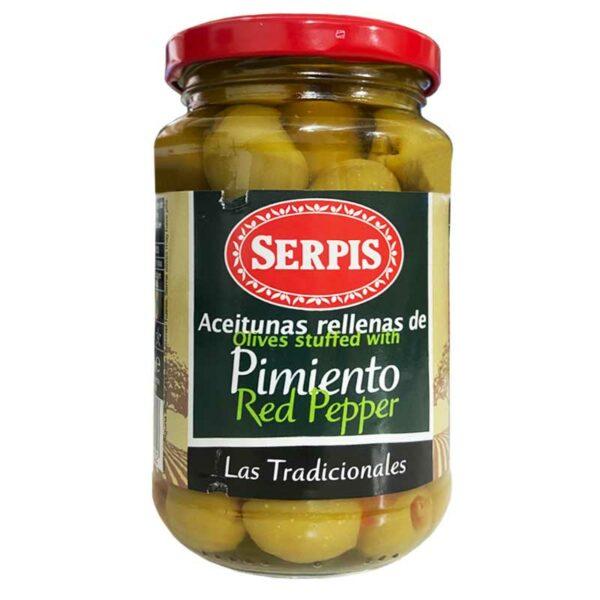 Serpis Aceitunas Rellenas de Pimiento, 340 g