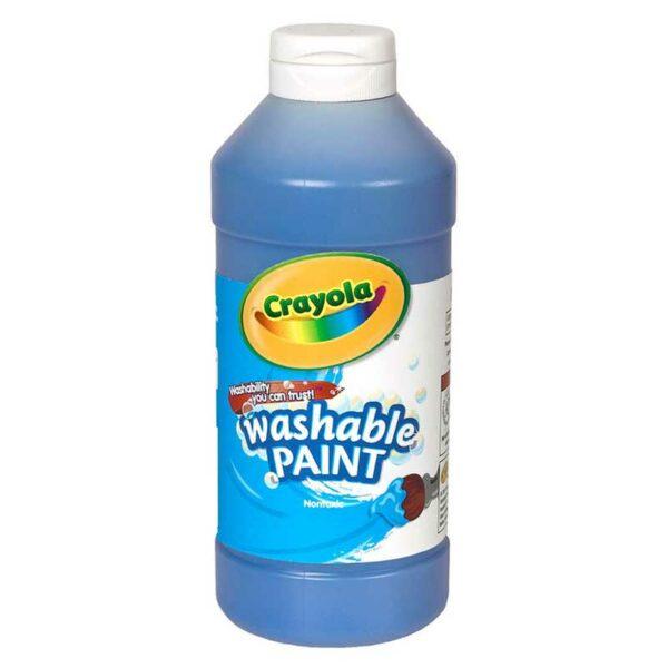 Tempera Lavable Crayola Azul, 16 oz