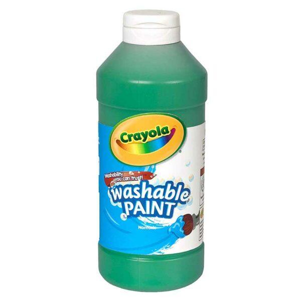 Tempera Lavable Crayola Verde, 16 oz