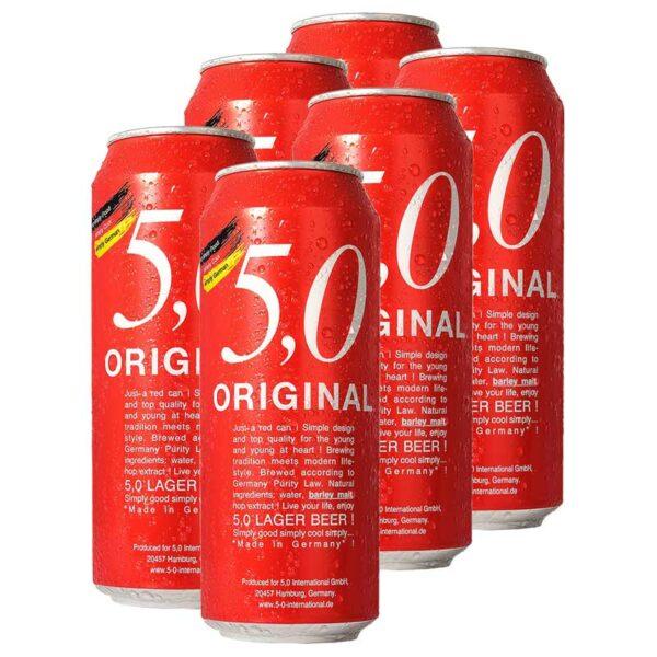 Cerveza 5,0 Original Lager, 16.9 oz
