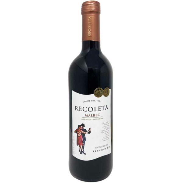 Vino Tinto Recoleta Malbec Reservado, 750 ml